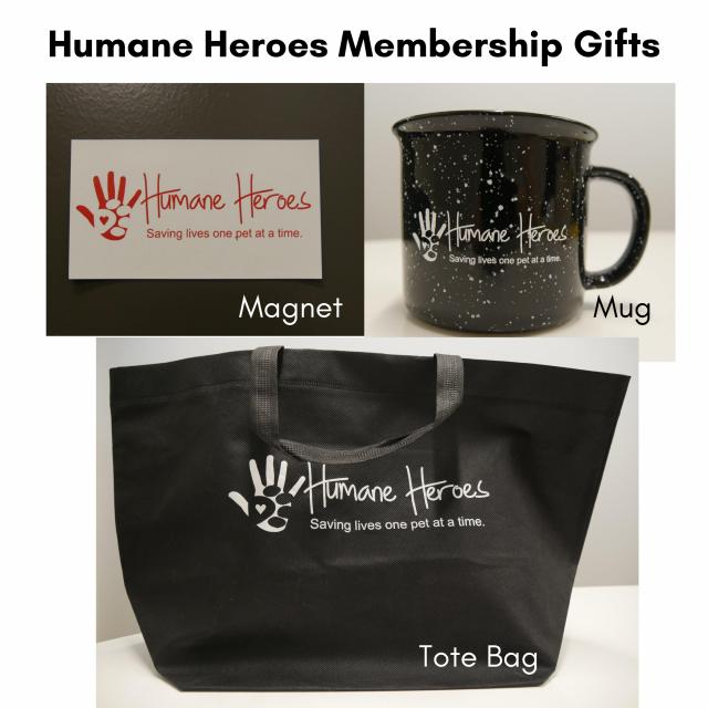 Humane heroes membership gifts